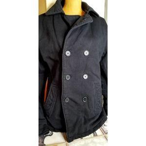 Hurley Double Button Black Pea Coat